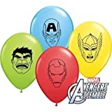 Marvels Avengers Rassemblement Tête Assortiment 12.7cm Qualatex Ballons En Latex x 10