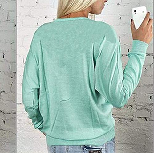 Lac Hauts Tops Bleu Shirts Automne Manches Pulls Onlyoustyle Blouse Femmes Printemps T Casual Fashion Longues et Jumpers Tees 4nFfa