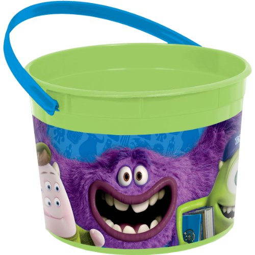 [Amscan Monsterrific Disney Monsters University Party Favor Plastic Cup, 16 oz, Green/Blue] (Monster University Costumes)