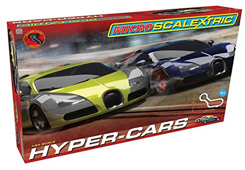 Scalextric Micro Hyper-Cars Race Slot Car Set (1: 64 Scale)