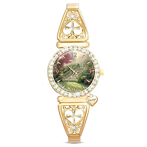 Thomas Kinkade Jewelry (Thomas Kinkade Stairway To Paradise Women's Stretch Strap Watch by The Bradford Exchange)