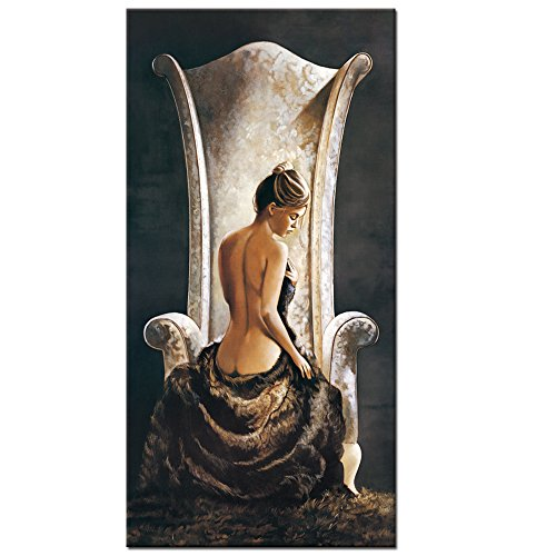 Large Size Woman Canvas Wall Art Prints,Sexy Nude Lady Oil Painting Feeling Picture Printed on Canvas Wall Decal Studio Wall Mural - Large Pictures Ladies