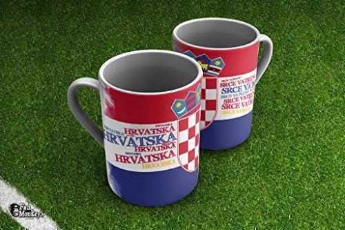 Kroatien II Fantasse Fanbecher Tasse Becher für Kaffee Tee