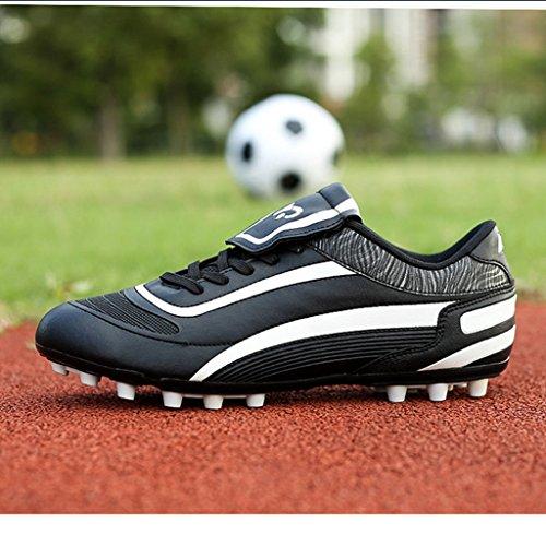 BELECOO - Botas de fútbol de poliuretano para niño negro-blanco