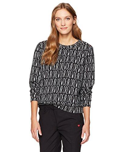 Dear Drew by Drew Barrymore Women's Broome St Long Sleeve Crew Neck Sweatshirt, Dear Drew Tap Shoe Combo, - Shops Broome