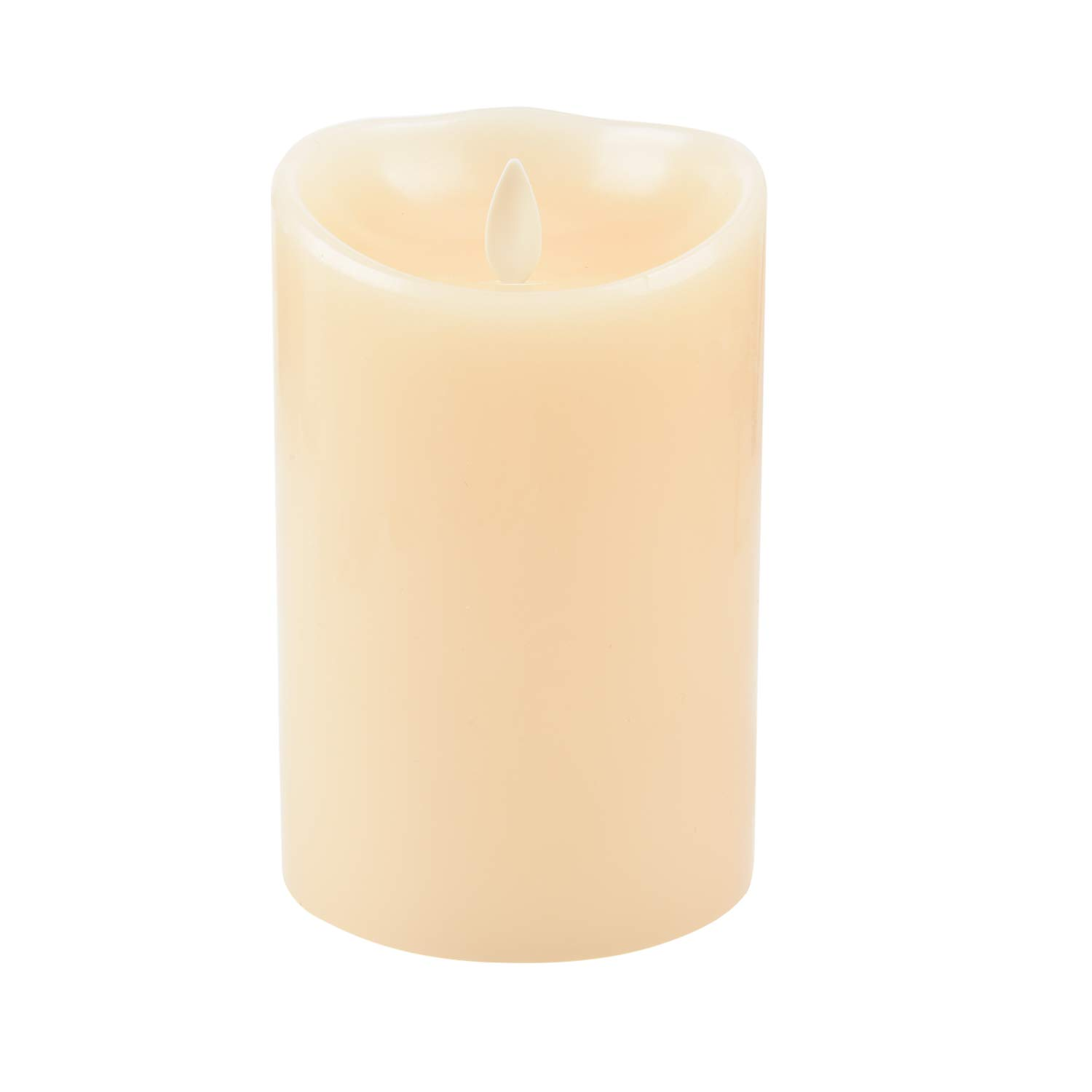 Luminara LED Flameless Candles, Luminara Flameless Real Wax Moving Wick LED Candle for Home/Party/Halloween/Christmas/Wedding Decor with Timer Control Vanilla Scent 3.5'' x 5'' - Ivory by iDOO