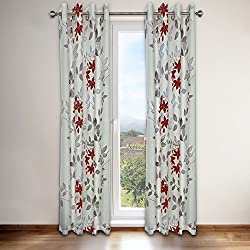 "Famous Home Fashions 920226 Famous Home Reni Red Window Curtain Panel Red,54"" X 95"""