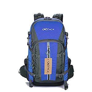 Hiking Backpack ONEPACK D401P 40L Water-Proof Camping Traveling Backpacking Packs for Outdoor Sports Cycling Mountaineering Climbing (Blue)