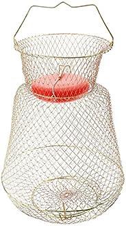 Sparkfire Floatable Galvanized Wire Fish Basket, Gold, Medium/13 x 18&