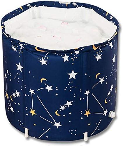 浴槽 ポータブルバスタブ折り畳み式バスバレル大人バスタブ子供ベビープール簡単に店家庭用65x70cm 大人用家庭用 (Color : Blue, Size : 65x70cm)