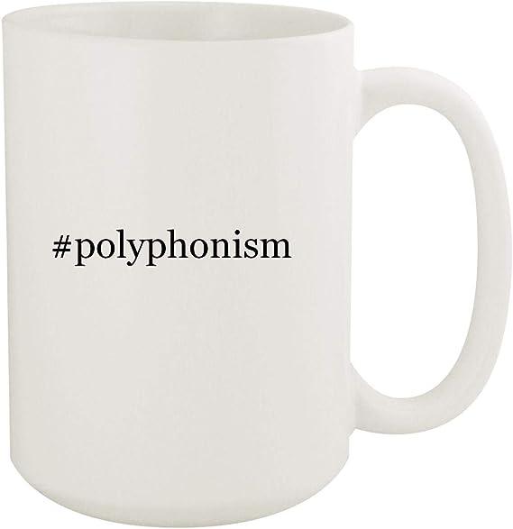 #polyphonism - 15oz Hashtag White Ceramic Coffee Mug