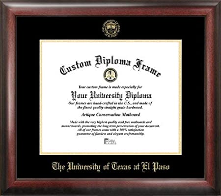 Amazon.com : UTEP Miners Gold Embossed Diploma Frame : Sports & Outdoors
