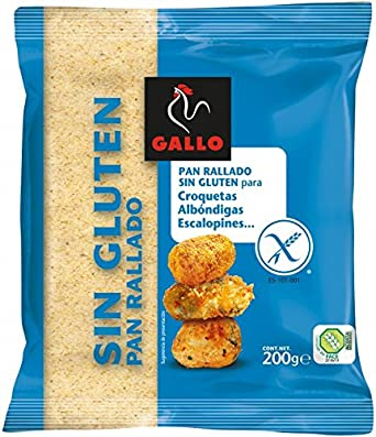 Gallo Pan Rallado sin Gluten - 200 gr: Amazon.es ...