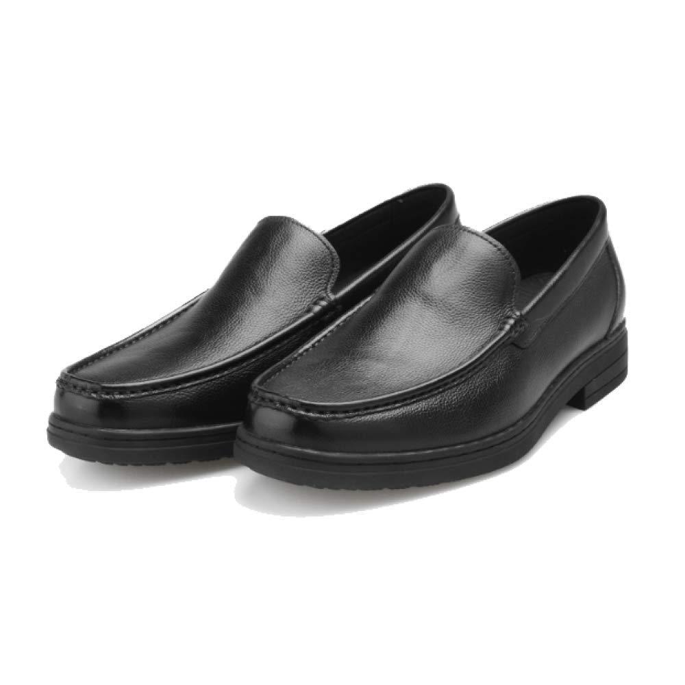 Frühlings Breathable Mann Einzelne Schuh England Mode Breathable Frühlings Tragbares Zufälliges Faule Schuhe Bequeme schwarza c5e483