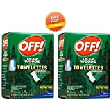 Off! Deep Woods Insect Repellent Wipes, 20 Towelettes (Pack of 2)