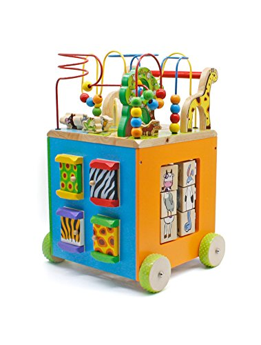 Pidoko Kids 2-in1 Baby Walker & Activity Bead Maze Cube - Perfect for Toddlers Boys and Girls 18 months and up