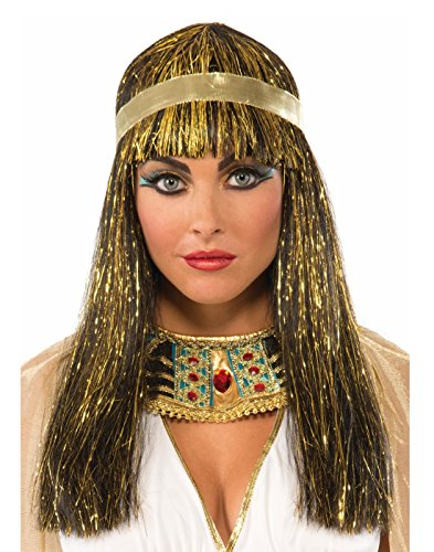 Forum Novelties Cleopatra Black with Gold Tinsel -