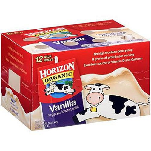 Horizon Organic 1% Low Fat Vanilla Flavored Milk 8 Oz - Pack of 12 by Horizon