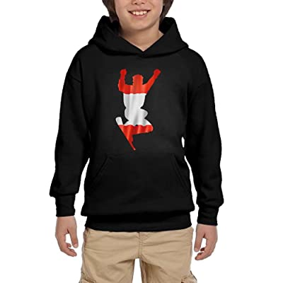 HUH HOODIES Nordic Two Austrian Flag Youth Sport Pullover Hoodies Casual Sweatshirts With Pocket