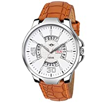 MINSK MK4069 Leather Strap Day and Date Boys Watch   for Men