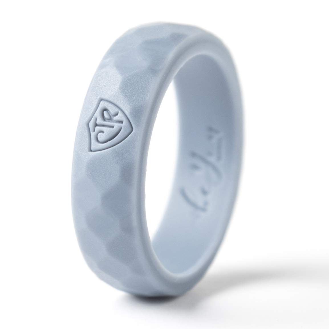 Be You Bands - Women's CTR Silicone Ring (Light Gray, 8)