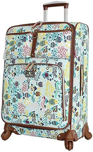 f8ecad095 Amazon.com | Lily Bloom Luggage Carry On Expandable Design Pattern Suitcase  For Woman With Spinner Wheels (Aquarium Life, 20in) | Suitcases