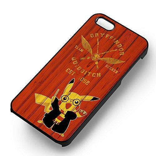 Pokemon Potter Wizard pour Coque Iphone 6 et Coque Iphone 6s Case (Noir Boîtier en plastique dur) N3C3RS