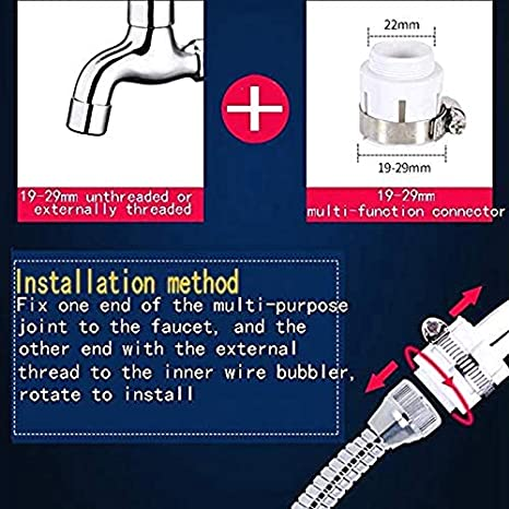 Wuyee 2 Piezas Grifo Giratorio de 360 Grados Filtro de Ahorro de Agua pulverizador Giratorio Adaptador de Filtro de Boquilla de Grifo para Cocina de ba/ño