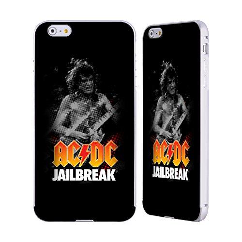 Officiel AC/DC ACDC Évasion De Prison Titres De Chanson Argent Étui Coque Aluminium Bumper Slider pour Apple iPhone 6 Plus / 6s Plus