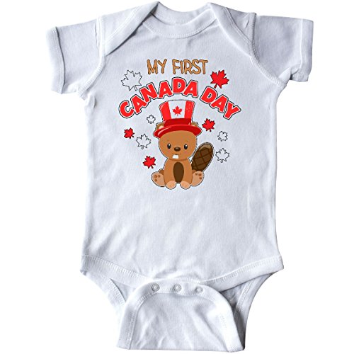 Inktastic   My First Canada Day Infant Creeper 6 Months White 303Eb