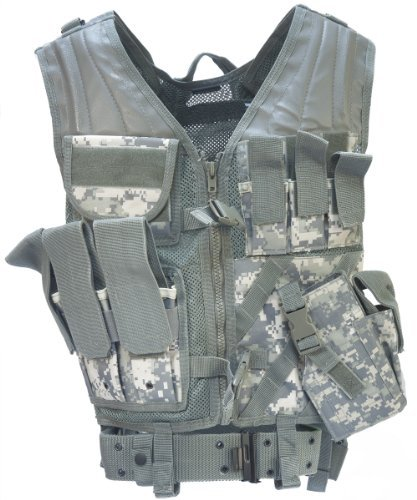 Acu Digital Army Usmc Marines Assault Military Combat Paintball Tactical Vest Airsoft by Mil-Tec
