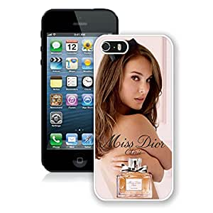 Unique And Luxurious Custom Designed Cover Case For iPhone 5S With Dior 19 White Phone Case