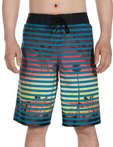 SURF CUZ Men's Board Short Beach Short 4-Way Stretch Swim (4 Way Stretch Water)