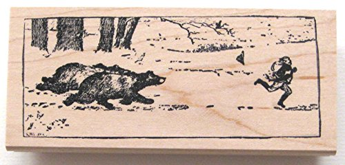 Nature's Blessings Fine Art Stamps, Bears Chasing Man by Nature's Blessings