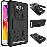 Chevron Military Grade Armor Kick Stand Back Cover Case for Asus ZenFone Max ,Black