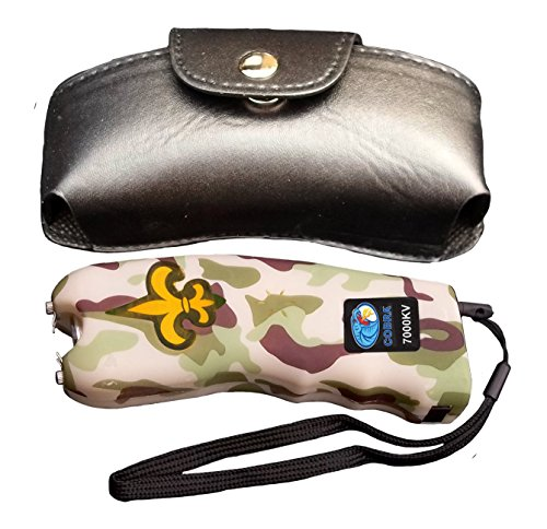 Cobra 7 Million Volt Stun Gun CSP-007 – Rechargeable with Flashlight & Best Self Defense Features (Camo)