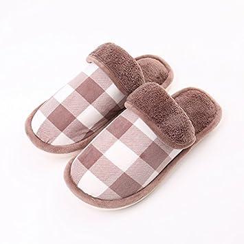 LaxBa Meine Damen Home Boden weiche Hausschuhe hübschen Innenpool Laufsohle Cotton-Padded Shoesbrown 40 ytATF