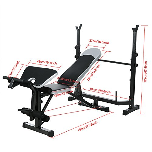 Olympic Weight Bench Us Stock Adjustable Foldable Multi Functional Weight Bench Set For