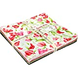 "Sweet Pea Flannel 10"" Squares 42 Pieces Layer Cake Maywood Studio"