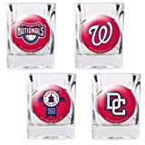 Washington Nationals 4 Piece Assorted Shot Glass Set by Great American Products