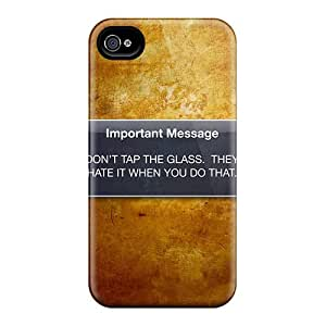 Special Design Back Dont Tap The Glass Phone Case Cover For Iphone 4/4s