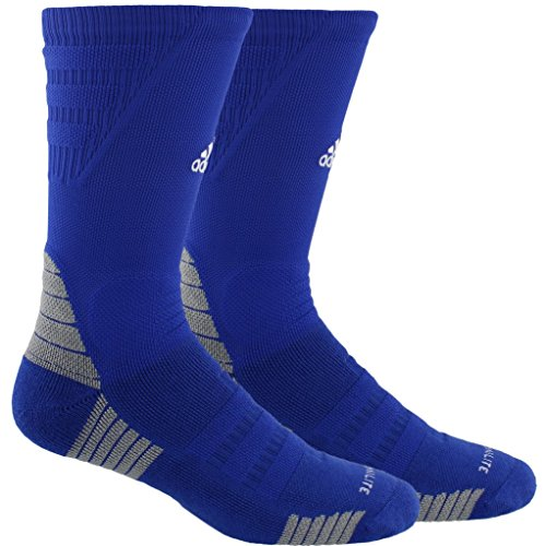 Socks Tennis Adidas Crew (adidas Alphaskin Maximum Cushioned Crew Socks (1-Pack), bold blue/white/light Onix, 12-16)