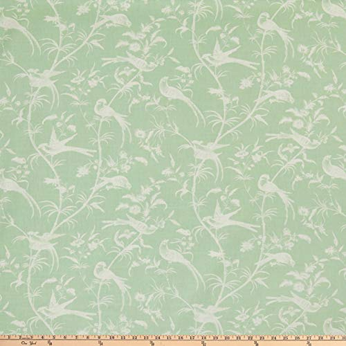 Martha Stewart Skylands Toile Cotton Leenane Green, Fabric by the Yard