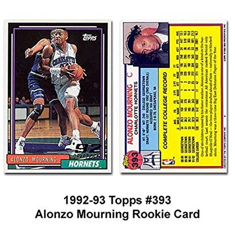 Topps Charlotte Hornets Alonzo Mourning 1992 93 Rookie Card