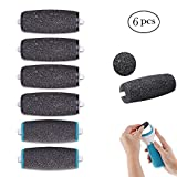 6 Pack Replacement Rollers, Extra Coarse Scholl Velvet Smooth Diamond Pedi Replacement Rollers Heads Compatible Foot File Refills Pedicure Hard Skin Remover Rollers