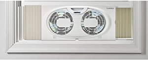 Lasko Twin Window Fan, White