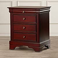 Darby Home Co Traditional Style 3 Wood Veneer and Solid Wood Dovetail Drawer Nightstand