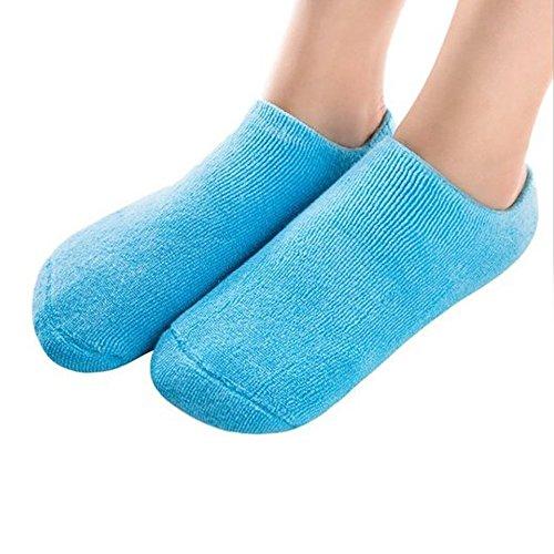 Pinkiou Spa Gel Socks for Soften Cracked Skin Moisturising feet care Exfoliating Dry Heel Booties pedicure (socks, (Spa Booties)