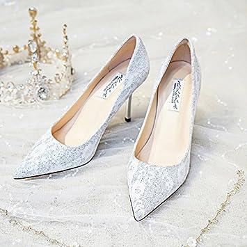 Huaihaiz Damen High Heels Pumps Hochzeit Schuhe Girl Bräute Hochzeit