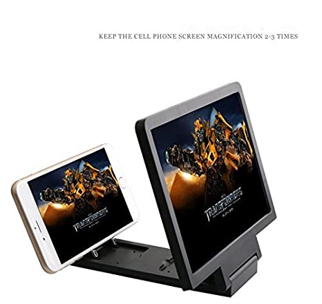 Rubility® Amplificador Lupa de Pantalla con Soporte para Smartphones 3 veces Ampliado Sostenedor del soporte